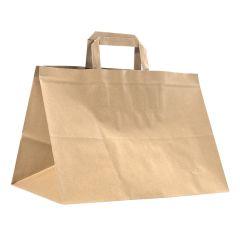 Litteäkannikekassi Take Away, ruskea kierrätyspaperi