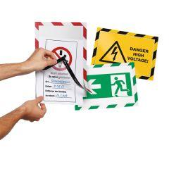Duraframe Security A4 varoituskylttikehykset