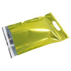 Postituspussi Metallic kantoaukolla, vihreä
