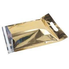 Postituspussi Metallic kantoaukolla, kulta