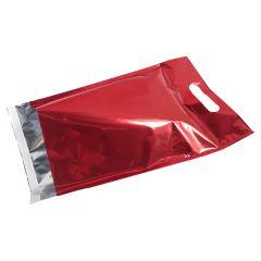 Postituspussi Metallic kantoaukolla, punainen